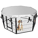 Cheng Yi Outdoor Heavy Duty Pet Pen Dog Puppy Rabbit Panel Esercizio Recinzione Ottagonale Coniglio recinto Gabbia recinto con Protezione Solare, 162,9 Pollici CYCWL679