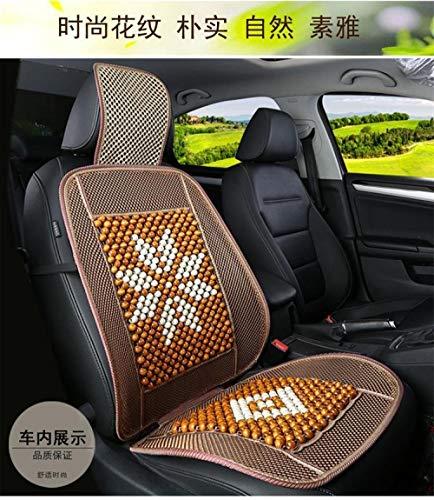 YPWSZ Bambus sitzkissen autosommermatte sommerauto mit kühlem Kissen karbonisiertes Bambus sitzkissen Bambus sitzkissen/gelbe venezianische Blume - Auto-blumen-sitzbezüge