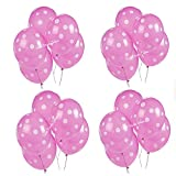 "Pretty Pink Polka Dots Spots Latex Balloons 12"" Birthday, Circus Themed, Party Decoration. (Pack of 20 Balloons)"