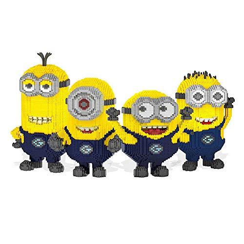 LOGOOO Kinder pädagogische Bausteine Spielzeug, kreative DIY Spielzeug, kleine gelbe Menschen Montage Spielzeug, 5-14 Jahre alt,A - Für Alt Puppen Jahr Fünf