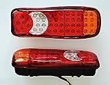 2?x LED hinten Stop Tail Indikator Nebel R?ckseite 24?V Lichter f?r Trailer Truck Bus Camper Kippmulde Wohnmobil Lampen