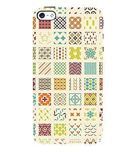 Muli Shape Pattern 3D Hard Polycarbonate Designer Back Case Cover for Apple iPhone 5