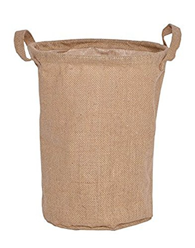 Home Essentials™ Laundry Basket Jute bag with Handle Linen Printed