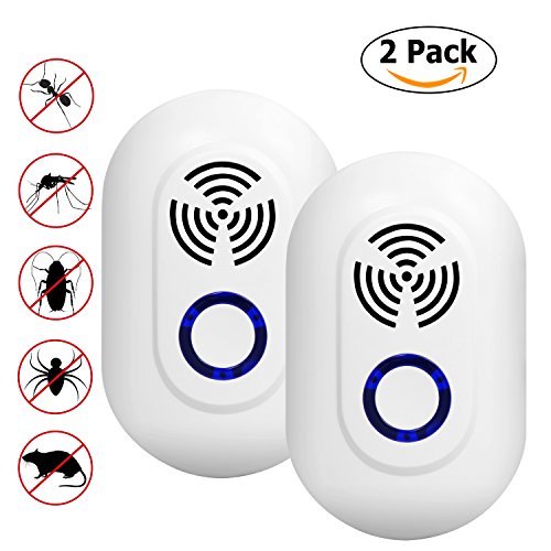 Ultraschall-Abwehrmittel, 2Stück, Gegen Mücken, Fliegen, Ameisen, Schaben, Spinnen, Mäuse, Nager, Insekten; ohne Geruch, keine Gefahr.