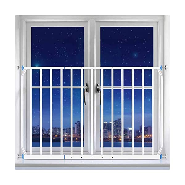 Huo Child Window Guard Fence Balcony Protection Net High-rise Bay Window Railing Free Punching Security Net (Size : 260-335cm) Huo ◆ Safety Gates materials: strict selection of standard safety materials ABS plastic +iron pipe + environmentally friendly smooth surface spray ◆Strong bearing capacity:Mounts inside (recommended), easy to disassemble, no damage to the wall;Tested to withstand 150kg ◆ Safety Gates Tall Wide Large: Expands to ways and openings between 85-335cm wide. Stand 77cm tall. 5