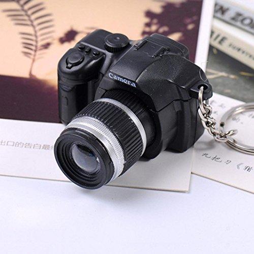 artistic9(TM) Hot Sale Mini Kamera Kinder Spielzeug Charm Schlüsselanhänger Anhänger mit Flash Light & Sound Geschenk, plastik, schwarz, 4cm * 5cm * 3cm (Geldbeutel Kamera,)
