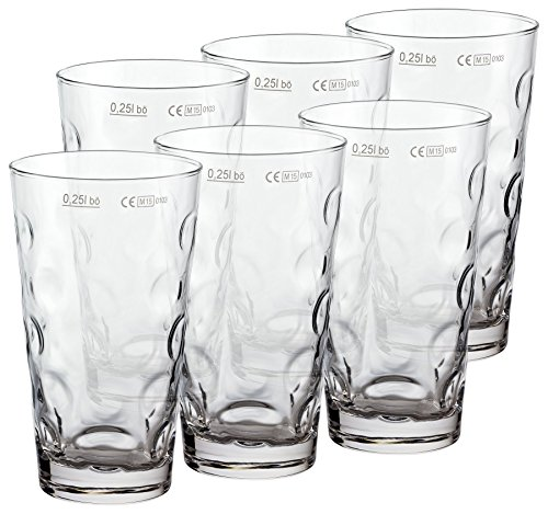 PREMIUM Dubbeglas für Schoppen (6 Stück 0,25l) Schoppenglas zum Genuss von Pfälzer Wein, Schorle oder Riesling original Pfalz Dubbegläser