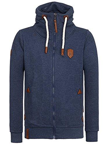 Naketano Male Zipped Jacket Ivic VIII indigo blue melange
