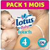 LOTUS BABY TOUCH - Couches Taille 4 (7-14 kg) - lot de 8 packs de 22 couches (x176 couches)