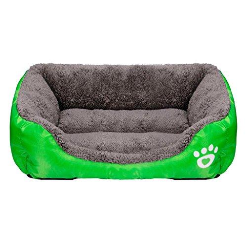 Cuccia per cane, Culater Cane Gatto Letto Morbido Cuscino Cuccia, Cane Cucciolo Casa Calda Coperta (M, Verde)