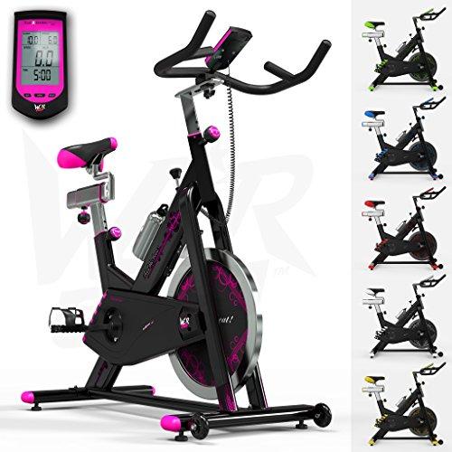 RevXtreme-Indoor-Aerobic-Exercise-Bike-Cycle-Fitness-Cardio-Workout-Machine-22KG-Flywheel-Pink