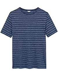 Gant Men's 18012070018409 Blue Linen T-Shirt