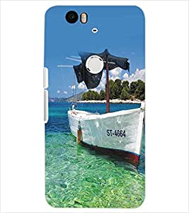 PRINTSWAG BOAT Designer Back Cover Case for HUAWEI NEXUS 6P