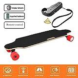 Laiozyen Longboard Électrique - Scooter Skateboard Électrique Adulte avec Télécommande sans Fils, Moteurs 250W, Vitesse Maximal 20km/h Autonomie E-Skateboards (Color2)