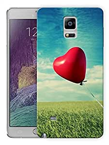 """Ulta Anda Heart Balloon Printed Designer Mobile Back Cover For """"Samsung Galaxy Note 4"""" (3D, Matte Finish, Premium Quality, Protective Snap On Slim Hard Phone Case, Multi Color)"""