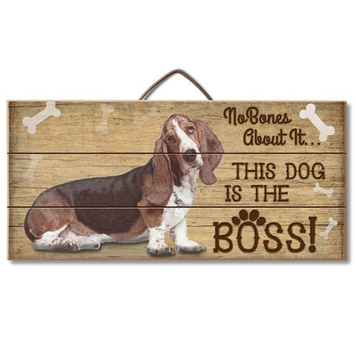 Bassett Design (Merle11Eleanor Holzschild Bassett is The Boss, 15 x 30 cm)
