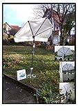 Holly 360 ° FÄCHER-Sonnenschutz - Weiss - hoher UV Schutz - Befestigung mit Schirmstock - Rasenspieß - Produktion Baden WÜRTTEMBERG - First - IT Fächerschirme Video -