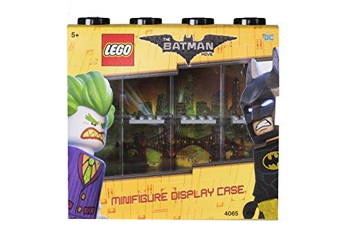 LEGO Batman Minifiguren-Schaukasten für 8 Minifiguren, Stapelbare Wand- oder Tischbox, schwarz