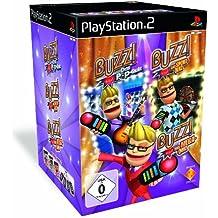 Buzz! Triple Pack Quiz (inkl. Buzz! Buzzer): Buzz! Das Pop Quiz / Buzz! Sports Quiz / Buzz! The Mega Quiz