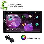 Eincar 2 Din Android 6.0 Autoradio Receptor de 7 pulgadas Quad Core con el GPS de navegación con pantalla táctil compatible con la pantalla 1080P 3G / 4G WIFI + Bluetooth OBD2 Reflejando Sin unidad de CD