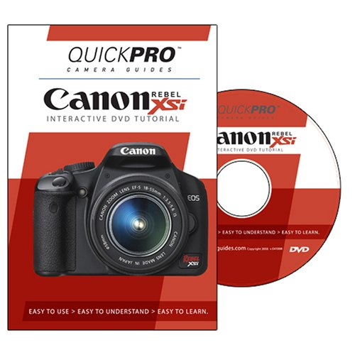 Canon Rebel XSi Instructional DVD by QuickPro Camera Guides Xsi Dvd