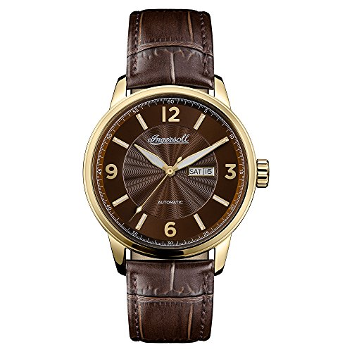 Ingersoll Men's The Regent Automatic Watch with Brown Dial and Brown Leather Strap I00201