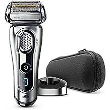 Braun Series 9 9260s Wet&Dry Máquina de afeitar de láminas Recortadora Plata - Afeitadora (Máquina de afeitar de láminas, Plata, LED, Batería, Ión de litio, 50 min)
