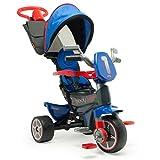 INJUSA - Triciclo Body Max Denim Evolutivo recomendado a partir de +10 Meses con Mango de Dirección Parental