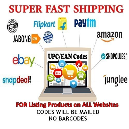 DilDeal EAN / UPC Codes, Set of 2000 Codes, for listing on any E-Commerce site