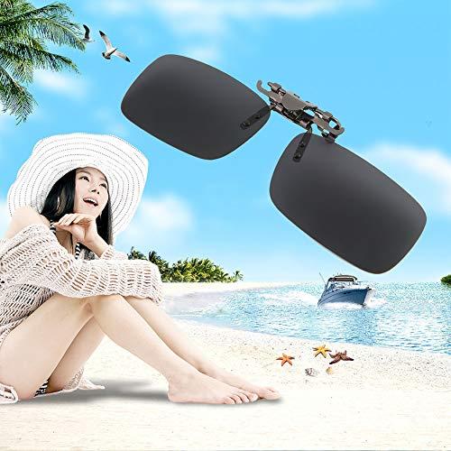 Yaoaomon Herren/Damen Retro Outdoor Sports Polarisierender Clip auf Klappsonnenbrille Driving schwarz und grau