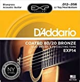 D'Addario EXP14 Saiten für Akustikgitarren Light Top/Medium Bottom/Bluegrass 12-56 mit 80/20 Bronze-Umwicklung