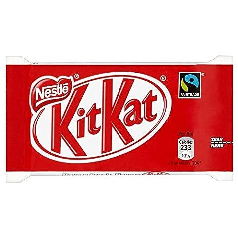 Fairtrade Nestle Kit Kat 4 Finger Bar (45 g) - Packung mit 2