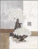 Keilrahmen-Bild - Claudia Ancilotti: Silver Pearl Leinwandbild Stillleben floral modern grau (80x100)