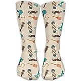 Nicegift Unisex Barber Comfortable Stockings Sport Socks Athletic Sock 50cm