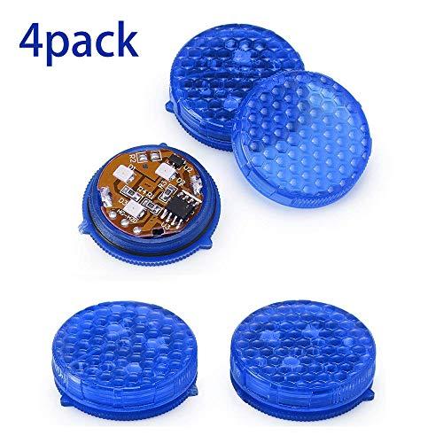 Konesky Autotür Warnlicht 4 Pack LED Safty Lichter IP65 Wasserdichte LED Sicherheit Anti-Kollision Lampen Lampenselbstwarnlampe Auto Off mit 3 Blinkmodi (Blau) (Auto-licht-lampen)