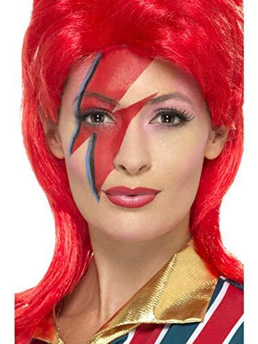 She Kind Kostüm Ra - Halloweenia - Kostüm Accessoires Zubehör Space Superstar Make Up Schminke Set, perfekt für Karneval, Fasching und Fastnacht, Rot
