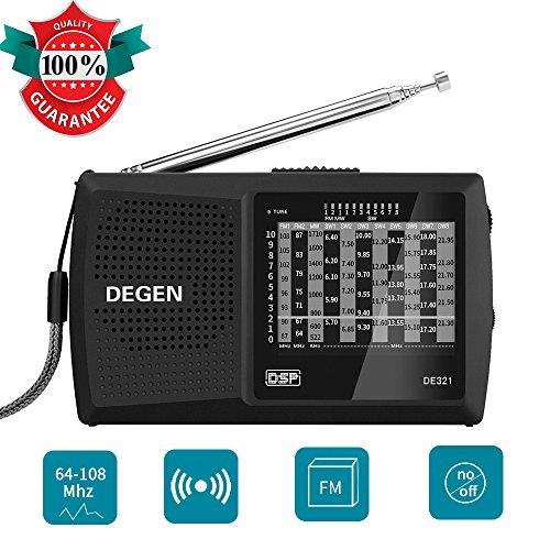 Lychee Tragbar Mini Digital SSB Radio Receiver Radio Player Rundfunkgerät AM/FM/MW/LW Weltempfänger Rundfunkempfänger