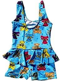 63e33f1d3d Infant Baby Girls One-Piece Polka Dots Swimsuit Ruffle Skirt Swimwear  Bathing Suit