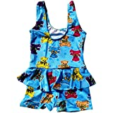 Infant Baby Girls Printed One-Piece Swimsuit Ruffle Skirt Swimwear Bathing Suit Cloth (ASSORTED PRINTS & DESIGNS)