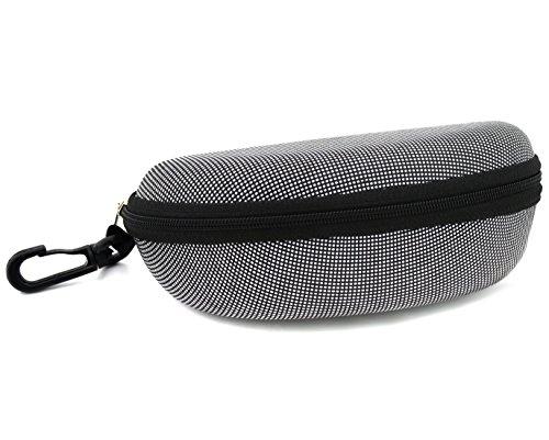 FeldSpar Zipper Black - White Sunglasses Eyeglasses Hard Case Protector Box