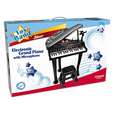 Bontempi Electronic Grand Piano With 22 Demo Songs Adjustable Microphone Light Effects 8 Sounds And Rhythms Age 3+ Years
