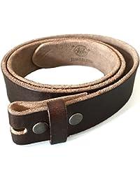 Vollleder-Gürtel fürs Buckle, dunkelbraun, leichter Used Look