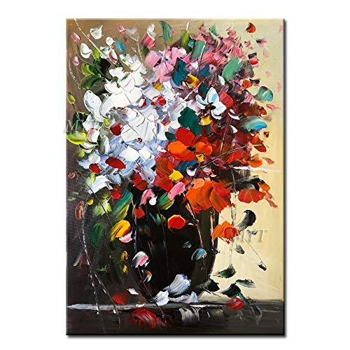 Geiqianjiumai Große Blume lila abstrakte Moderne ölgemälde Wohnzimmer wandkunst malerei Dekoration malerei rahmenlose malerei 60X80 cm