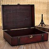 Charmine Schmuckkasten Schmuckkoffer holzkiste Schmuckschatulle Schmuckbox Uhr Ring Holz Box Retro - 5