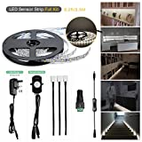 Moonlife99 DIY Flexible LED Strip Lights PIR Motion Sensor Activated Under Cabinet Lighting Full Kit Bed lights for Kitchen Home Decorative Lighting