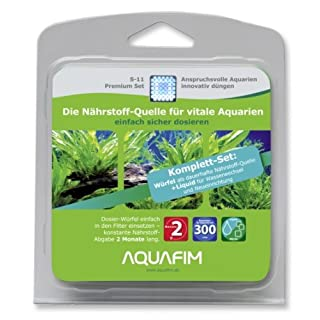Aquafim S-11 Premium Komplett-Set bis 300 L - 2in1 Dosier-Würfel & Liquid