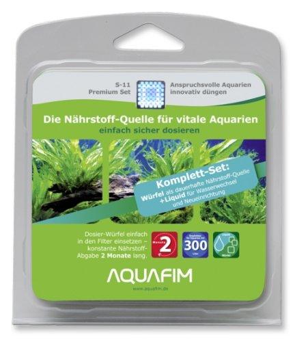 Preisvergleich Produktbild Aquafim S-11 Premium Komplett-Set bis 300 L - 2in1 Dosier-Würfel & Liquid