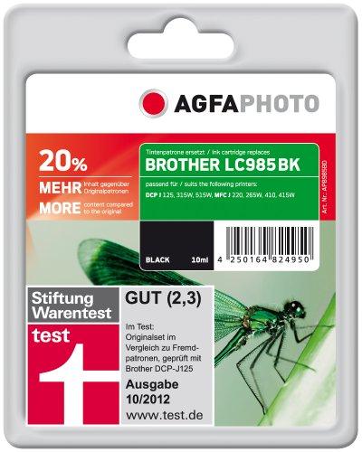 Preisvergleich Produktbild AgfaPhoto APB985BD Tinte für Brother DCPJ315W,  12 ml,  schwarz
