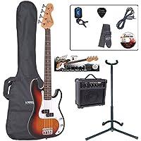 Encore EBP-E20SB Elec. Bass Guitar Outfit 7/8 Size - Sunburst