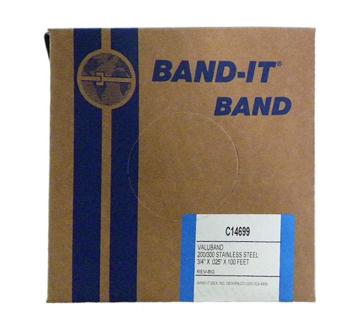 band-it valuband Band c14699, 200/300 Edelstahl, 3/10,2 cm breit x 0,1 cm Dick (100 Fuß Rolle) -
